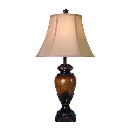 Stylecraft 15 W Brown Polyresin Table Lamp, One Size , Brown