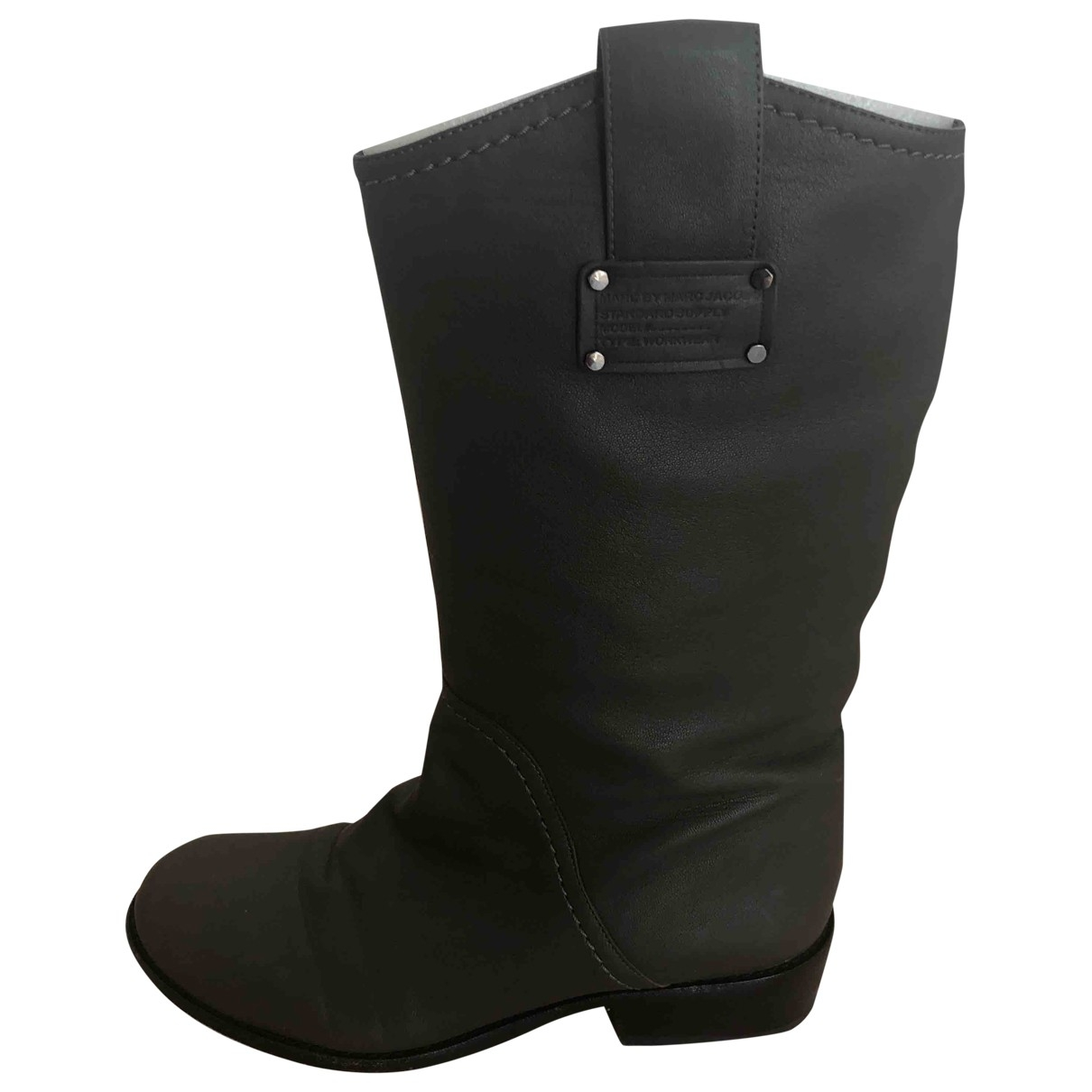 Marc By Marc Jacobs \N Grey Leather Boots for Women 37.5 EU
