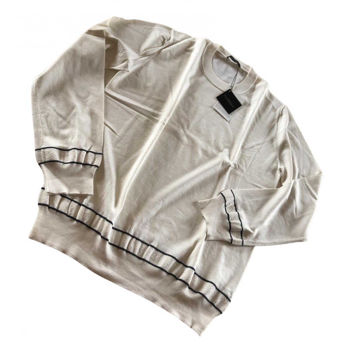 La Perla \N Pullover.Westen.Sweatshirts  in  Weiss Wolle
