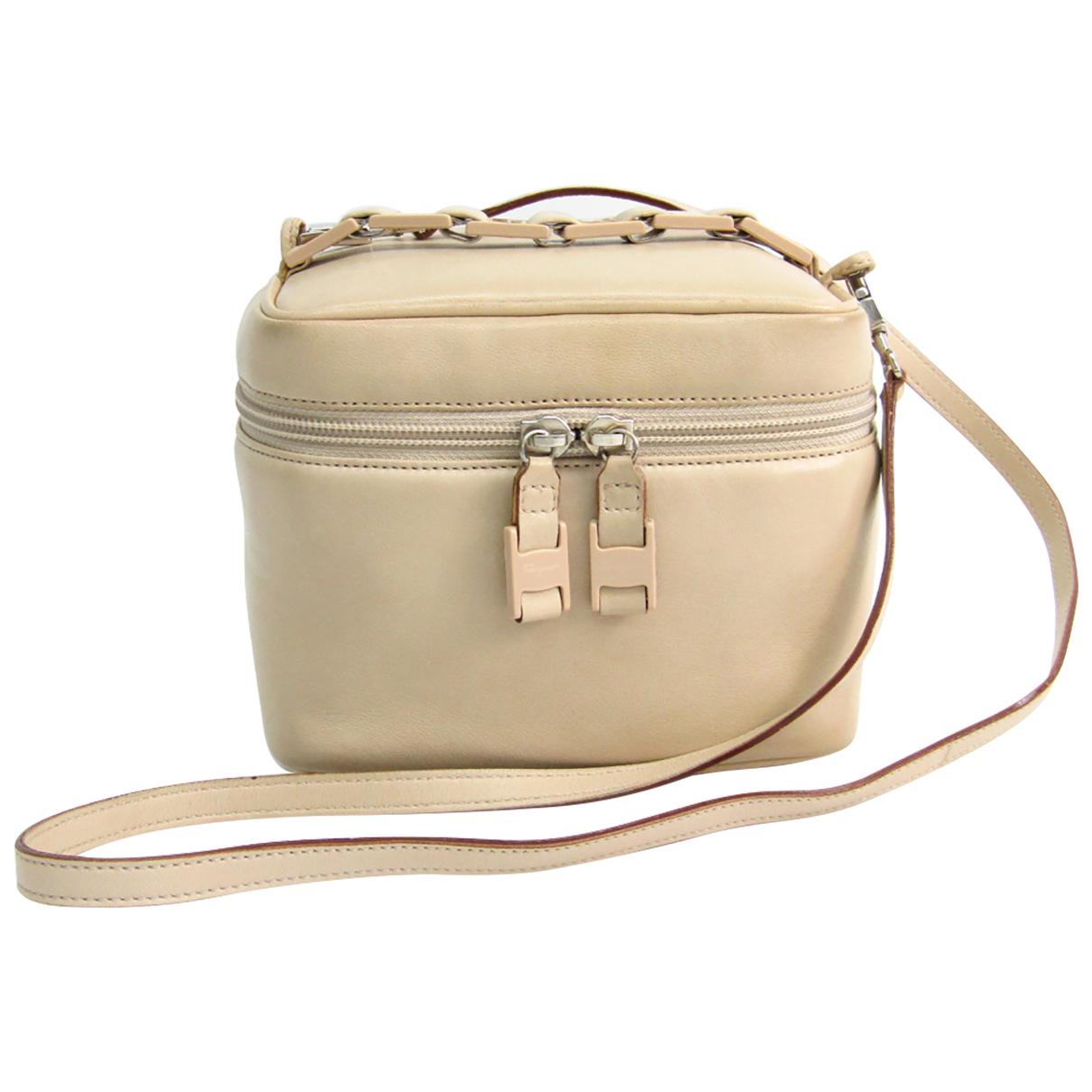 Salvatore Ferragamo Vara Beige Leather handbag for Women N