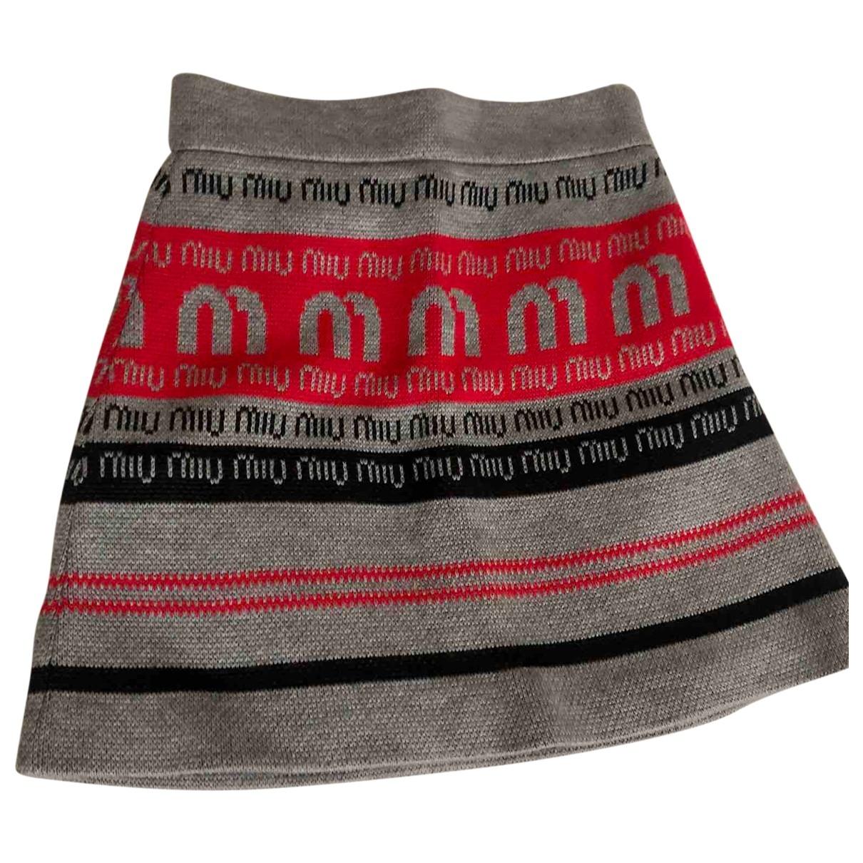 Miu Miu - Jupe   pour femme en laine - multicolore