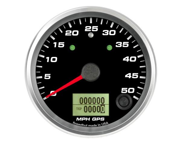 SpeedHut GR338-GPS-15T GPS Speedometer Gauge 50mph   with Turn Signal and High Beam