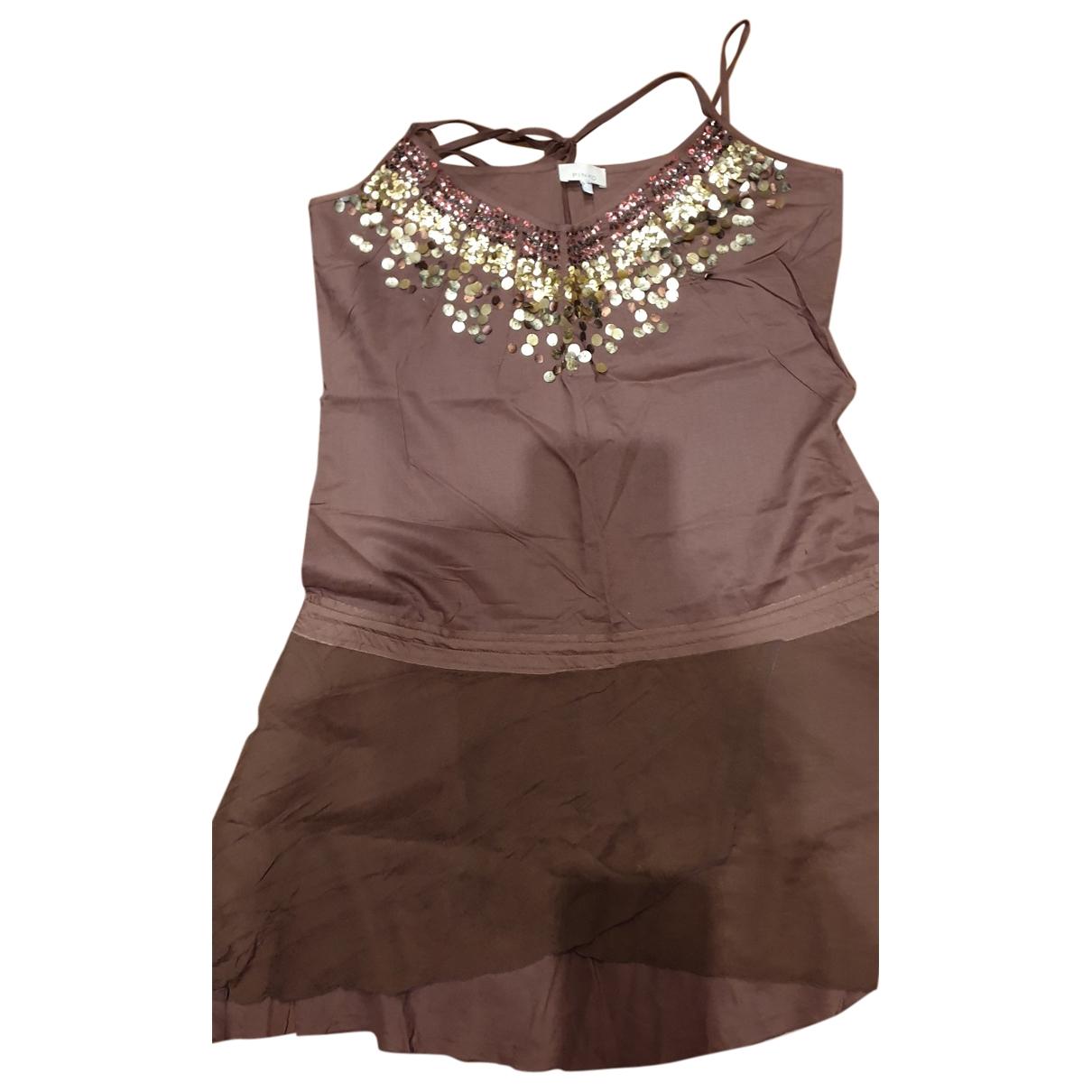 Pinko \N Kleid in  Braun Baumwolle