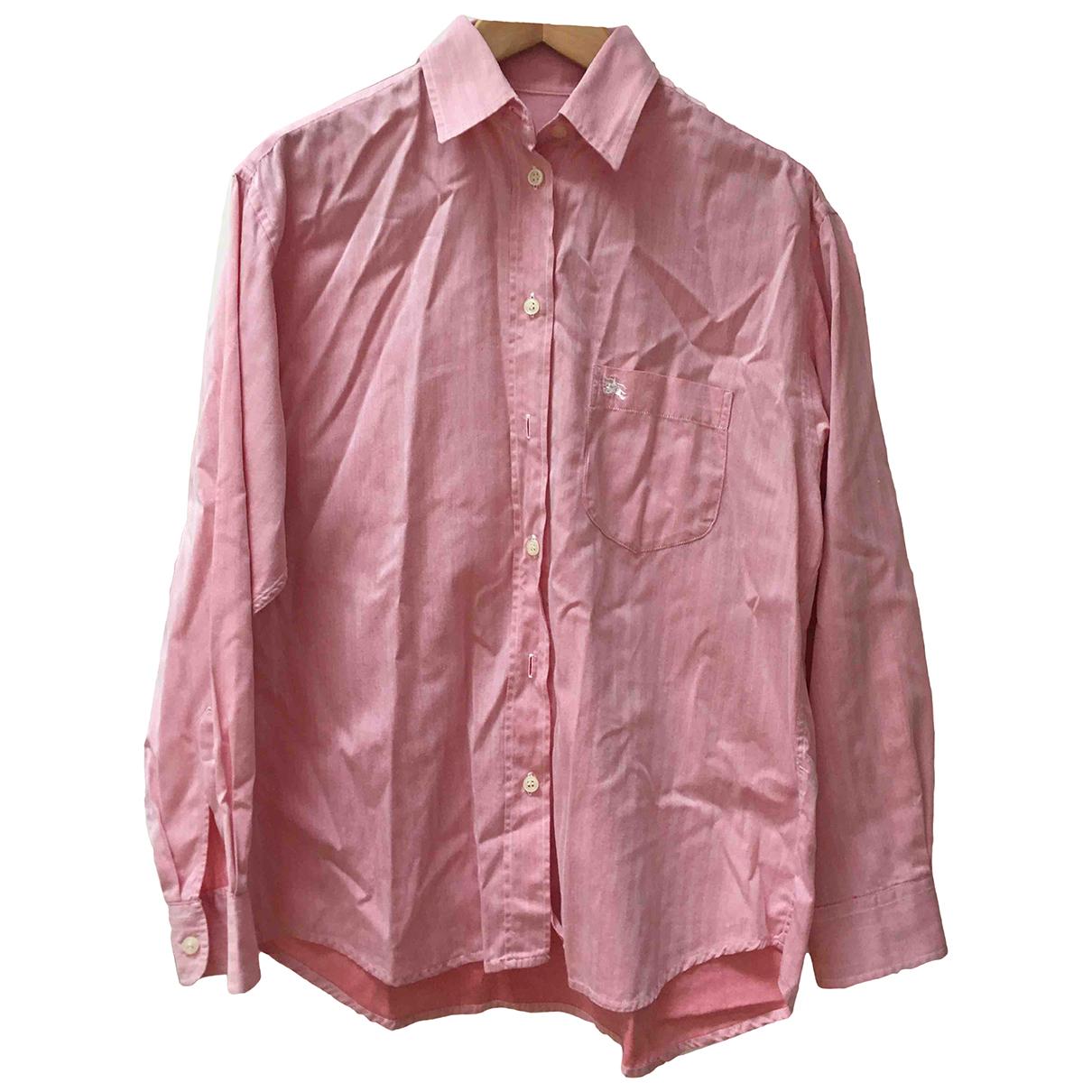 Burberry - Top   pour femme en coton - rose