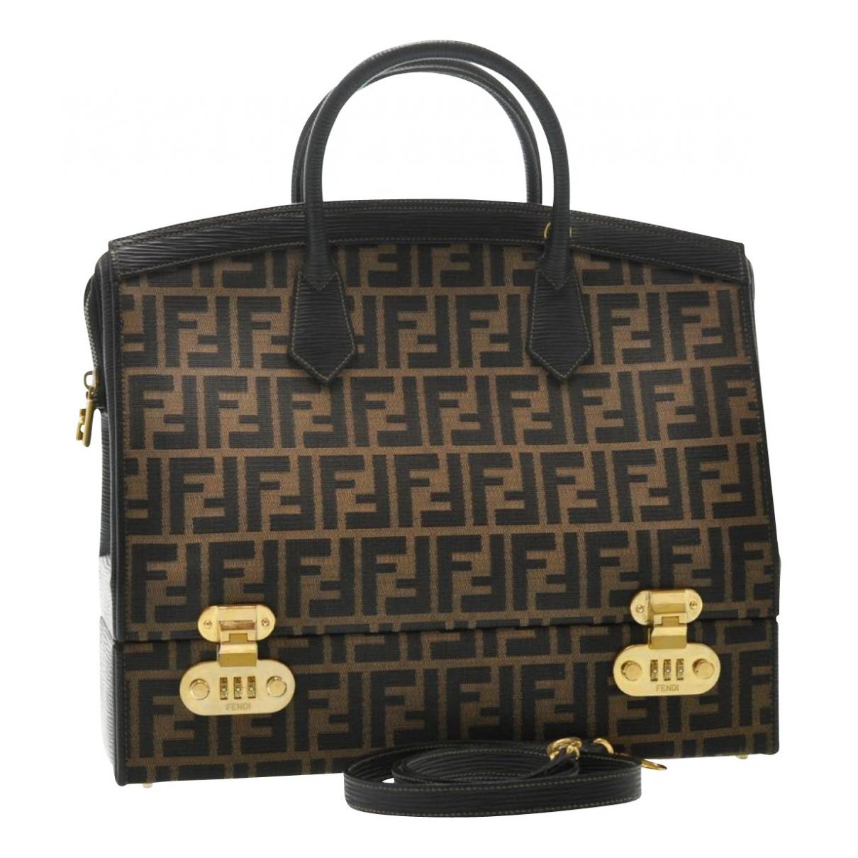 Fendi N Brown Cloth Travel bag for Women N