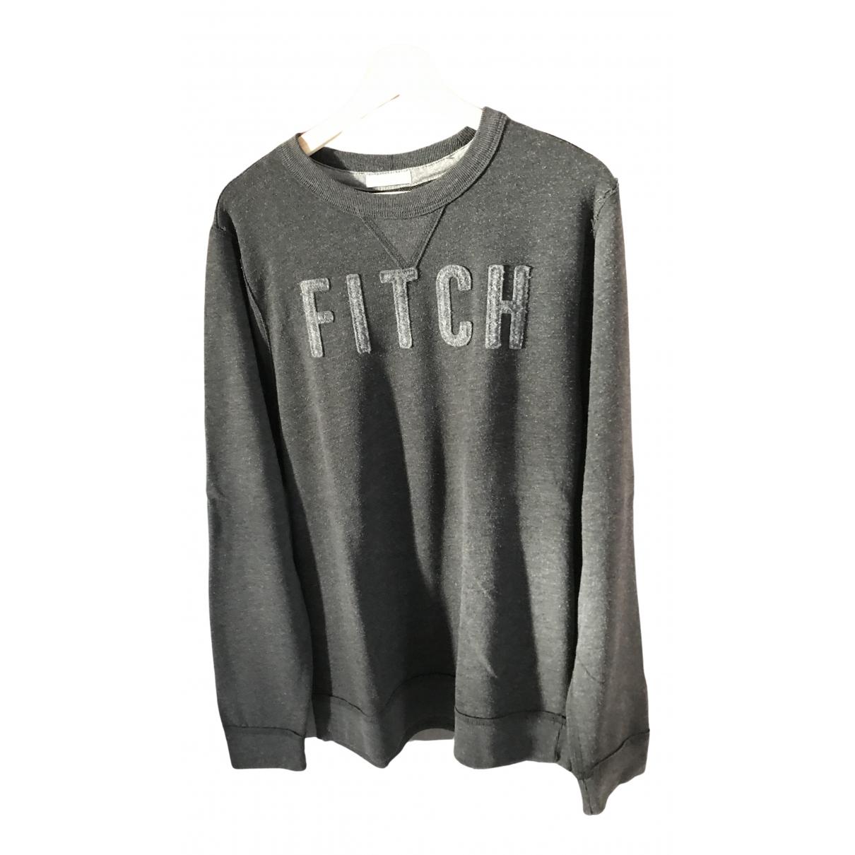 Abercrombie & Fitch - Pulls.Gilets.Sweats   pour homme en coton - anthracite
