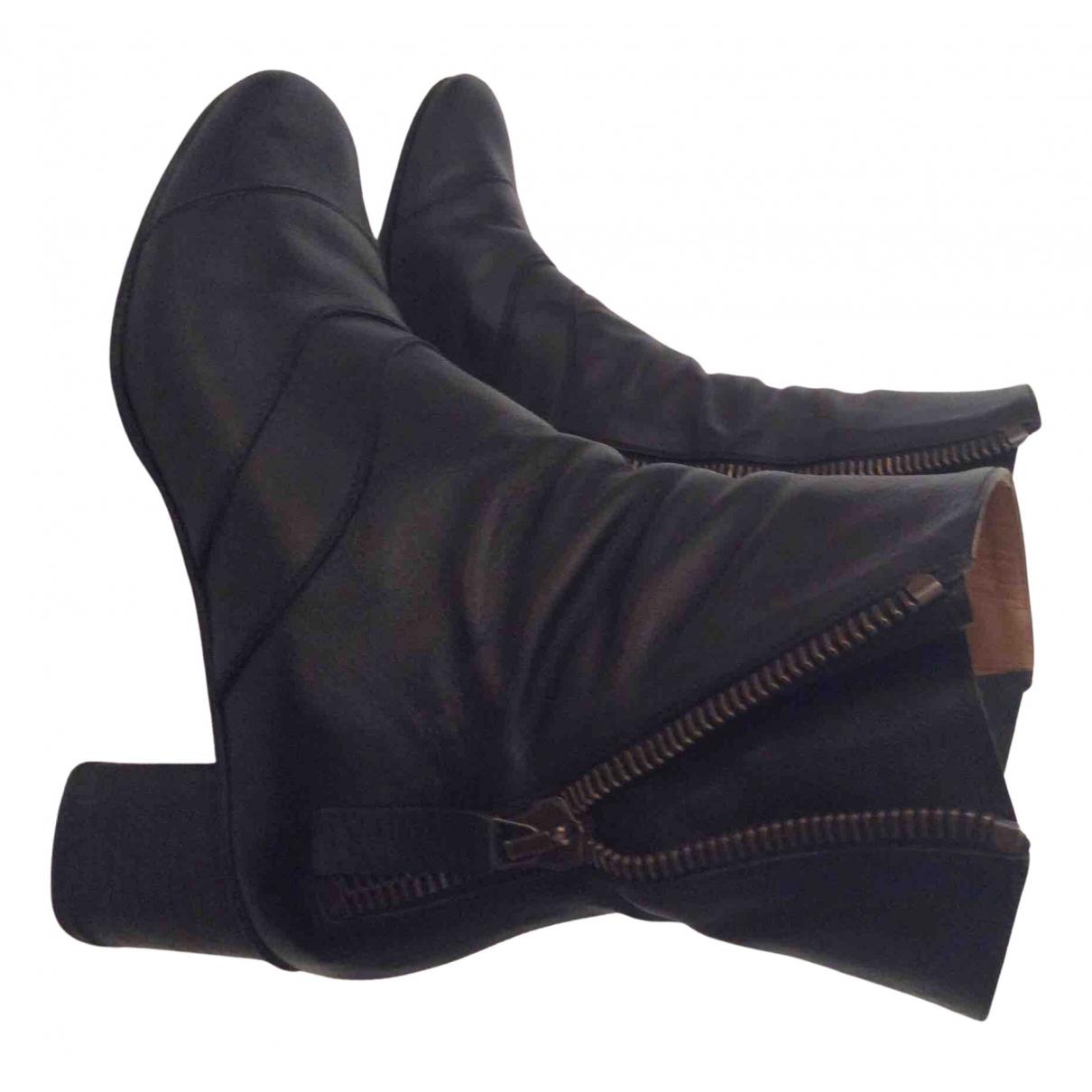 Chloe - Boots Lexie pour femme en cuir - noir