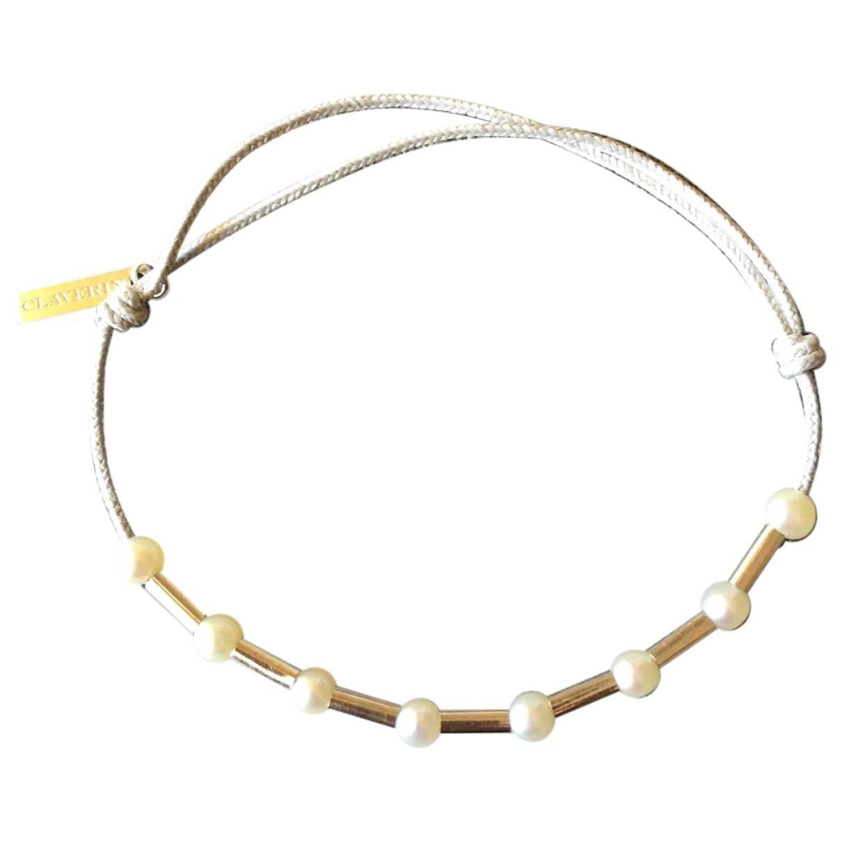 Pulsera de Oro blanco Claverin