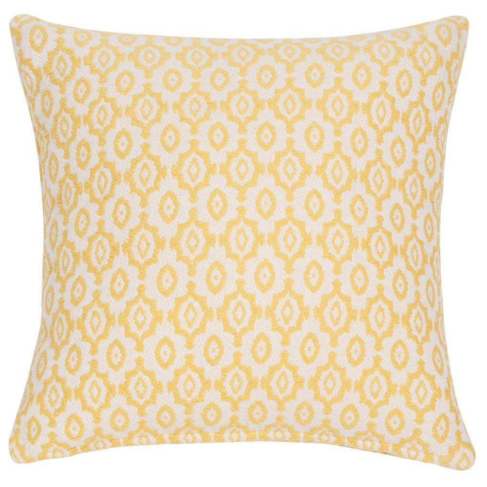 Kissenbezug aus Baumwolle mit gelbem Jacquardmuster 40x40 cm ALES