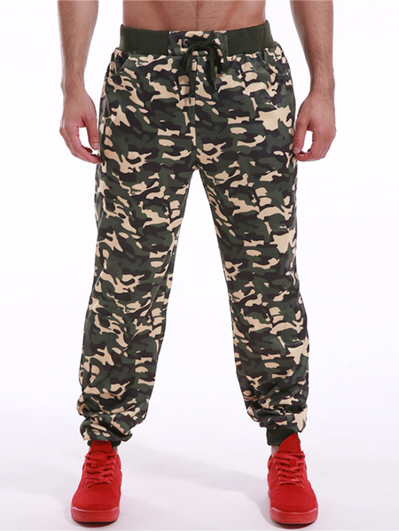 Yoins INCERUN Men Casual Camouflage Gym Tapered Pants Sweatpants