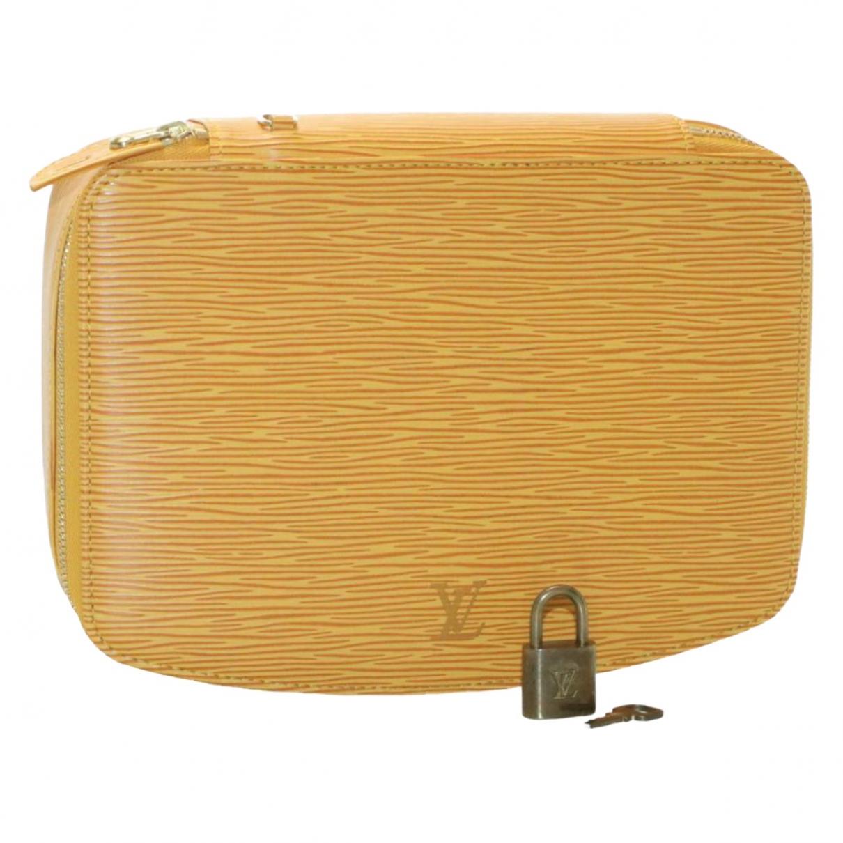 Louis Vuitton - Sac de voyage   pour femme en cuir - jaune