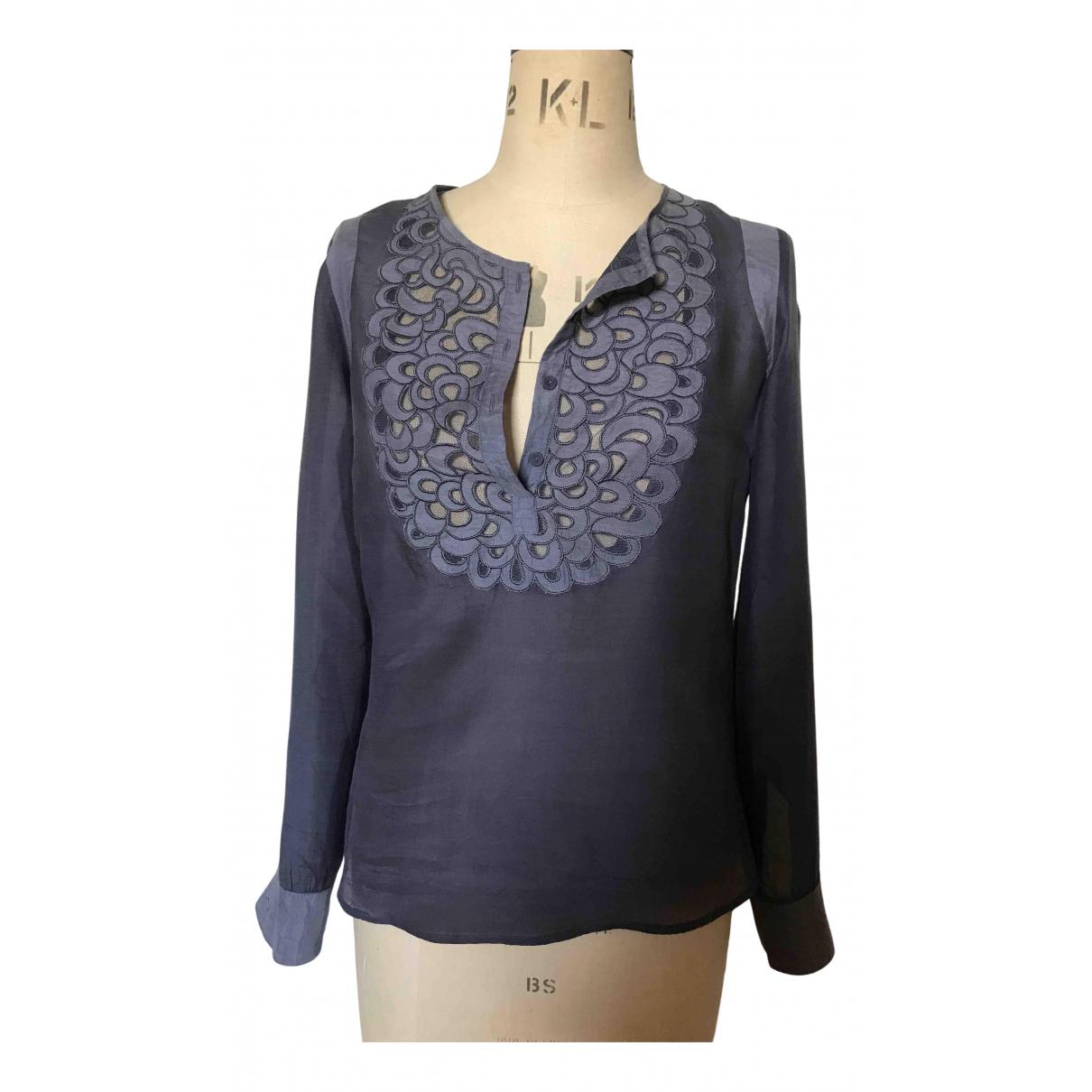 Bruuns Bazaar - Top   pour femme en soie - gris