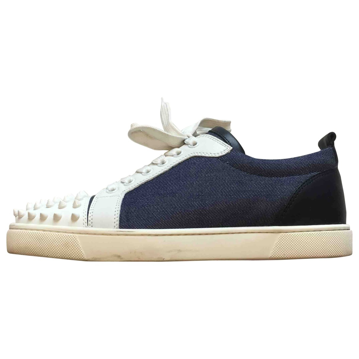 Christian Louboutin Gondolita Blue Cloth Trainers for Women 40.5 EU