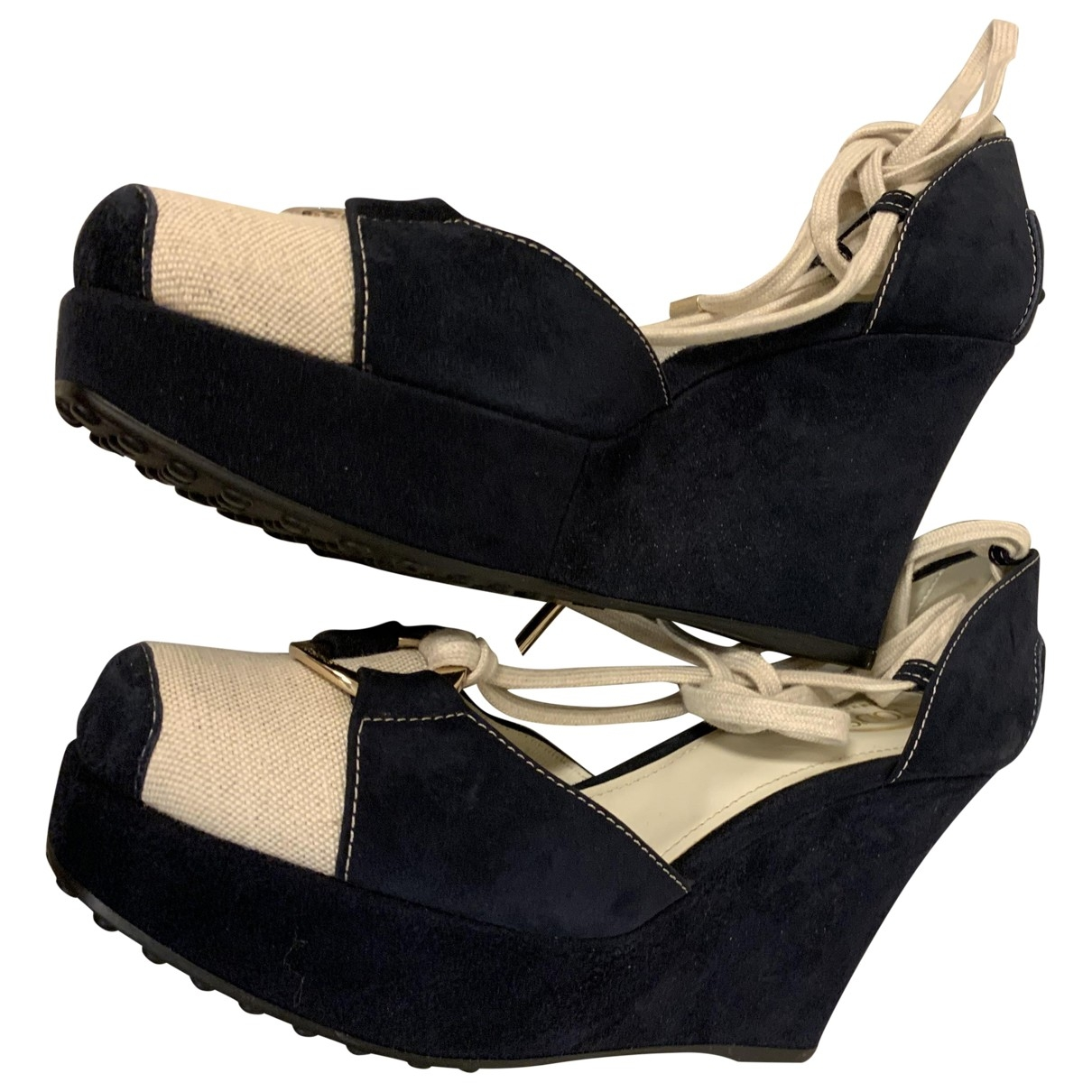 Tods \N Blue Leather Sandals for Women 38.5 EU