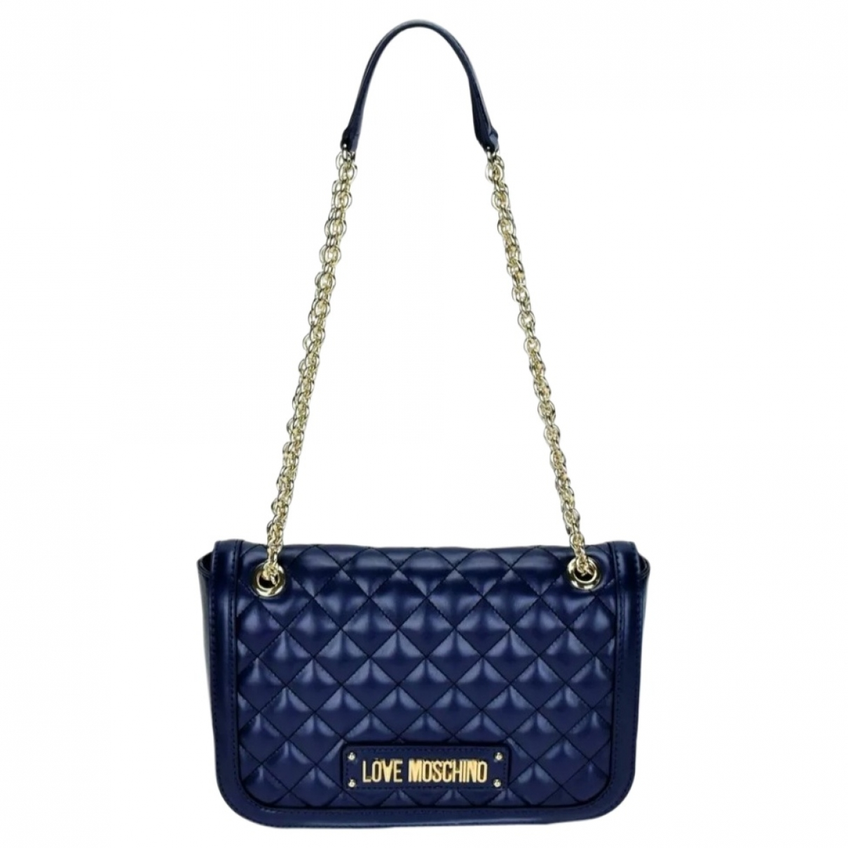 Moschino Love \N Clutch in  Blau Synthetik