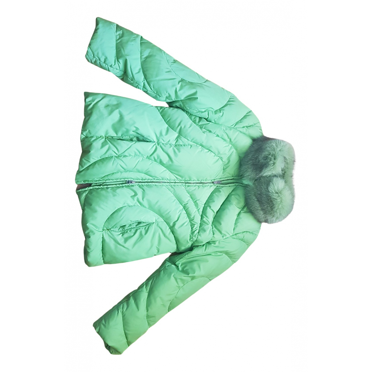 Non Signé / Unsigned N Green jacket for Women 40 FR