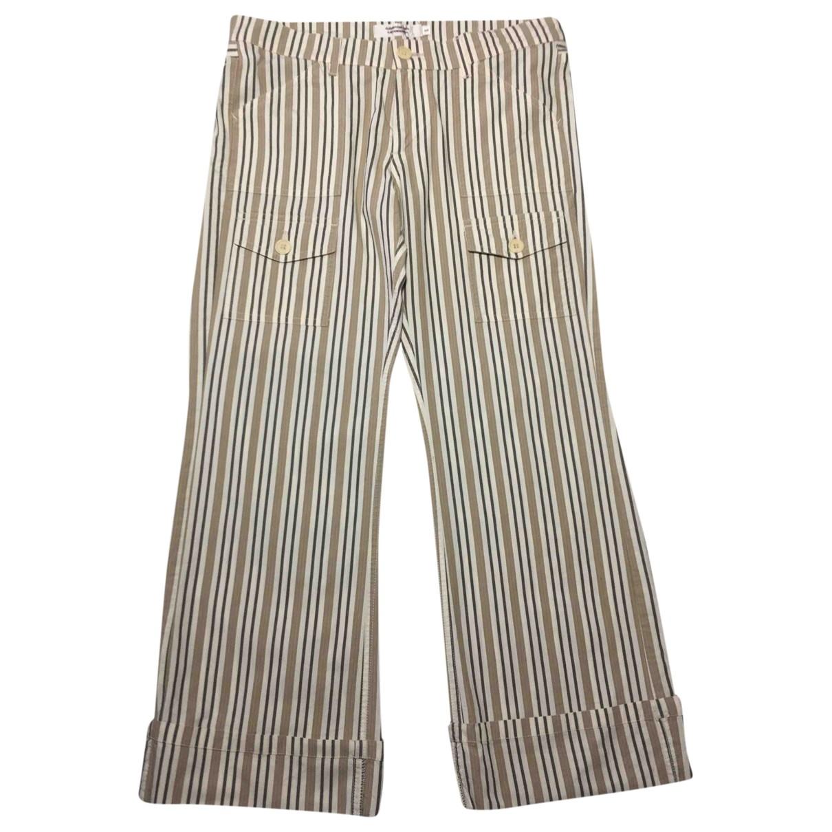 Comptoir Des Cotonniers \N Beige Cotton Trousers for Women 38 FR
