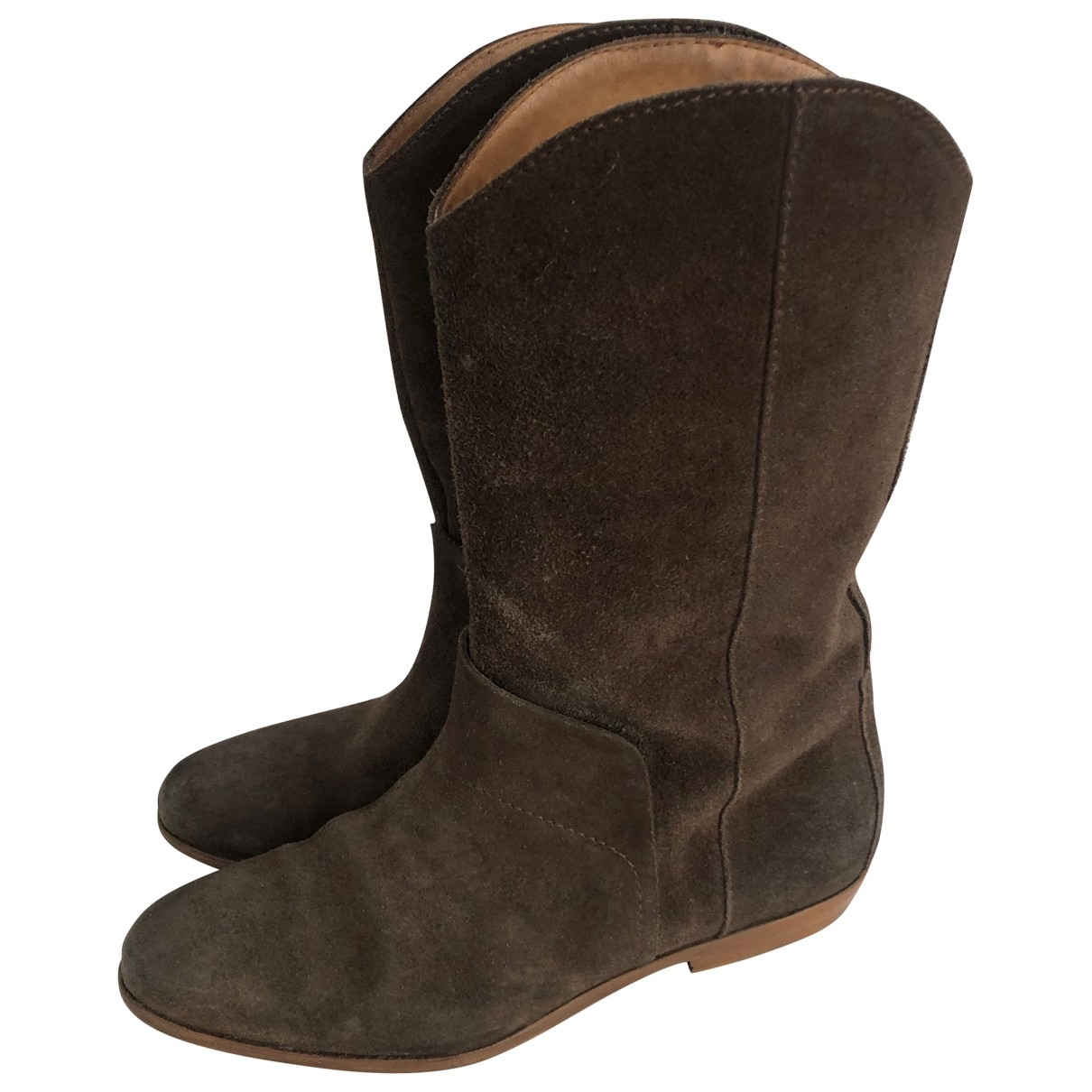 Maison Martin Margiela \N Brown Suede Boots for Women 39 EU