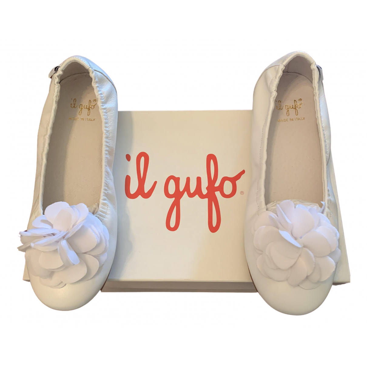 Il Gufo N White Leather Ballet flats for Kids 36 FR