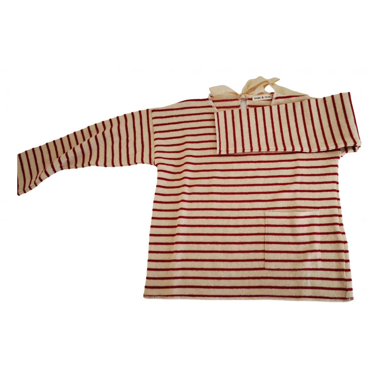 Babe & Tess - Pull   pour enfant en coton - ecru