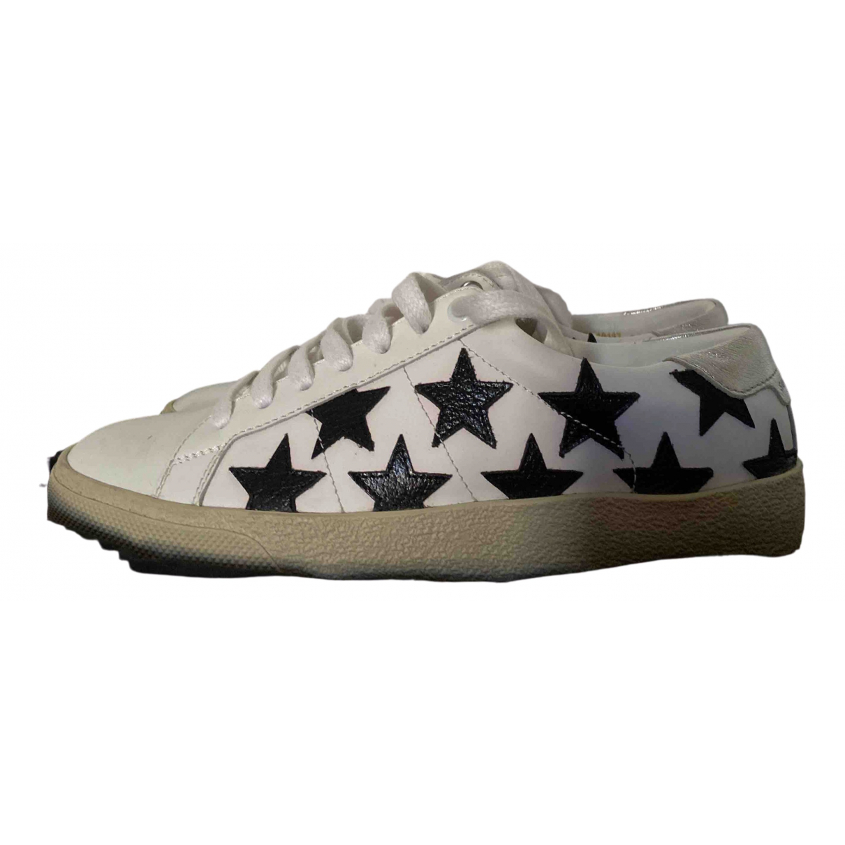 Saint Laurent \N White Leather Trainers for Women 35.5 EU