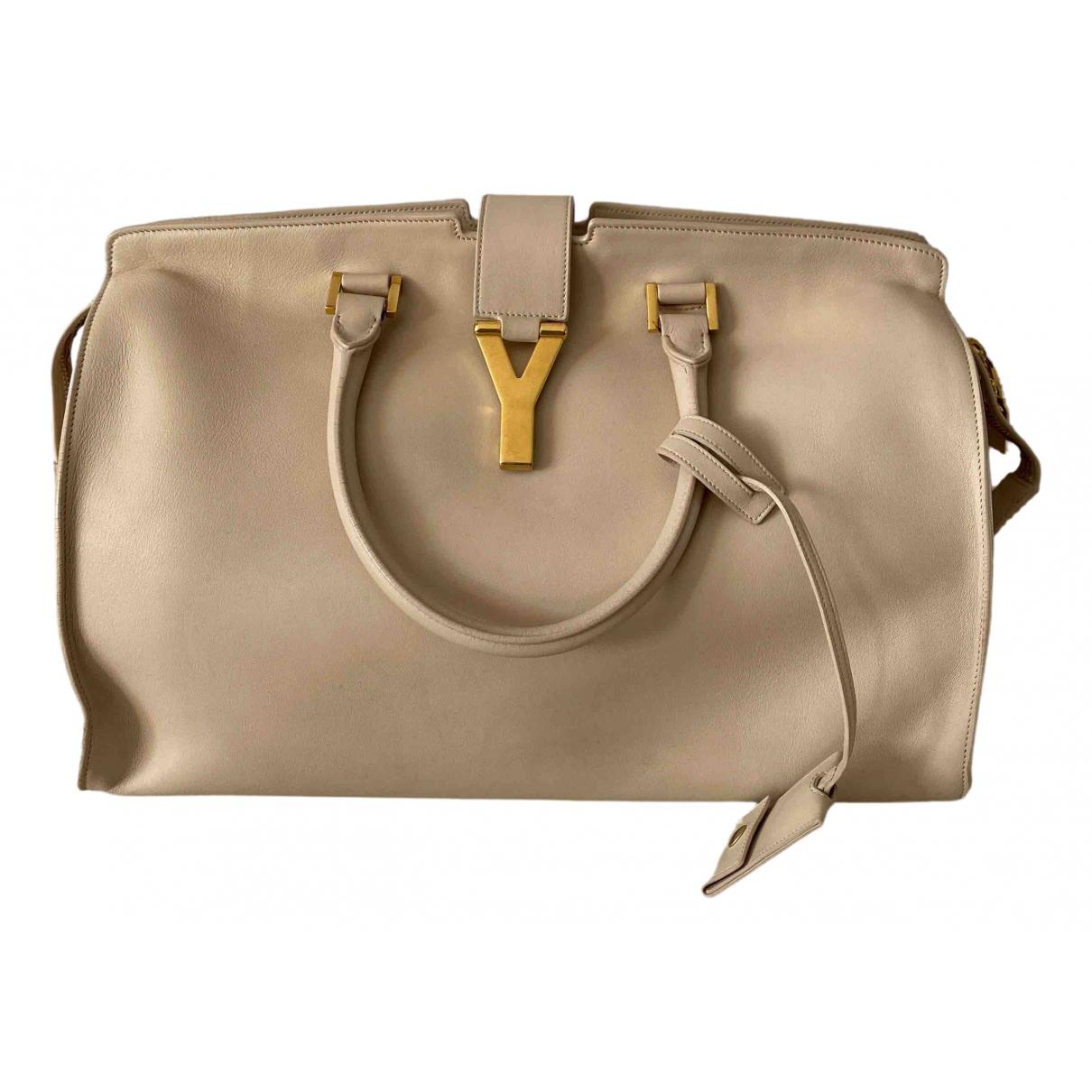 Saint Laurent Chyc Beige Leather handbag for Women N