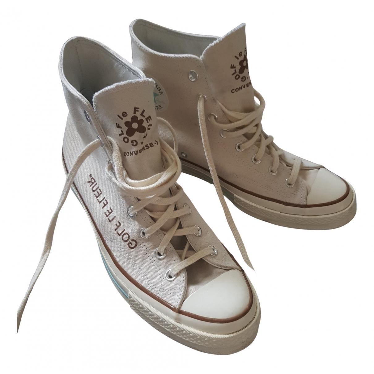Converse X Golf Le Fleur \N Sneakers in  Beige Leinen