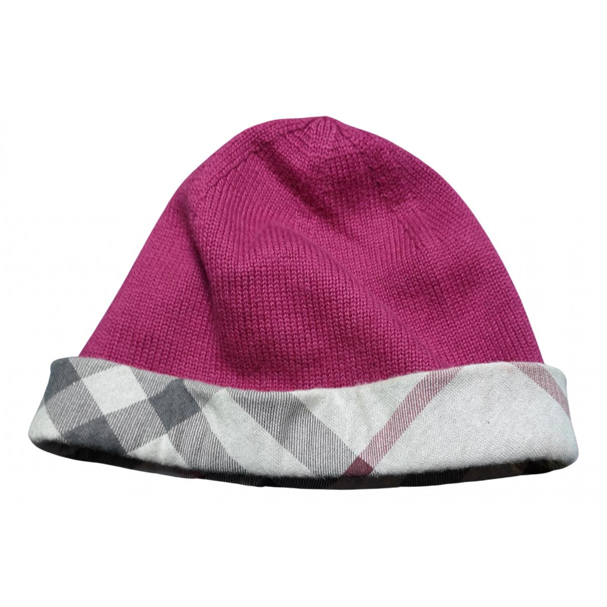 Burberry - Chapeaux.Bonnets.Gants   pour enfant en coton - bordeaux