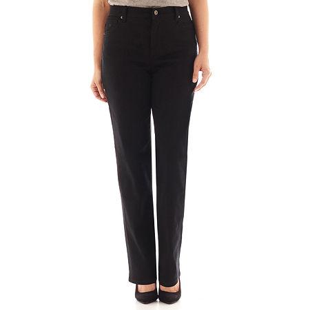 Gloria Vanderbilt Amanda Jeans, 16 Petite Short , Black