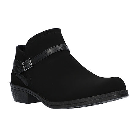 Easy Street Womens Peony Booties Block Heel, 8 Wide, Black