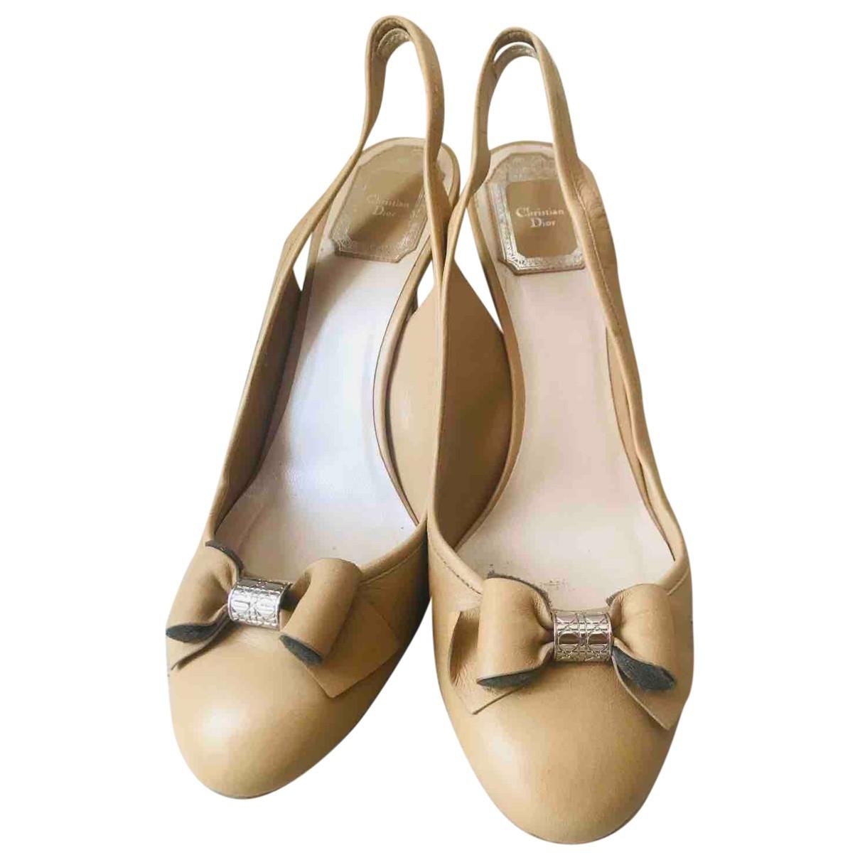 Dior \N Beige Leather Heels for Women 38 EU
