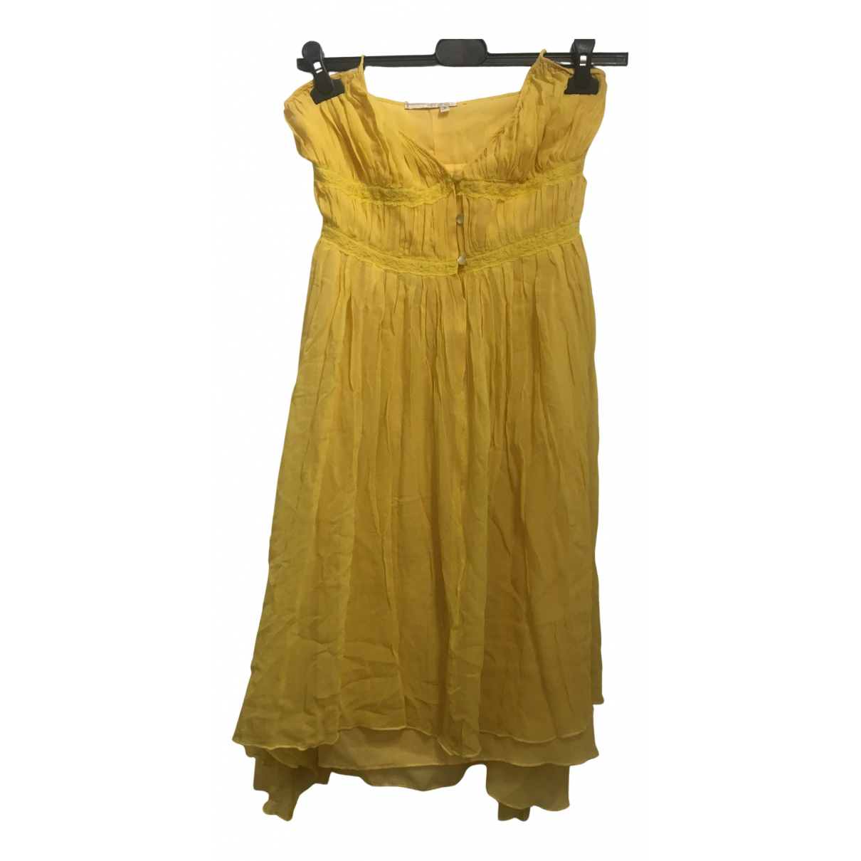 Bcbg Max Azria \N Kleid in  Gelb Viskose
