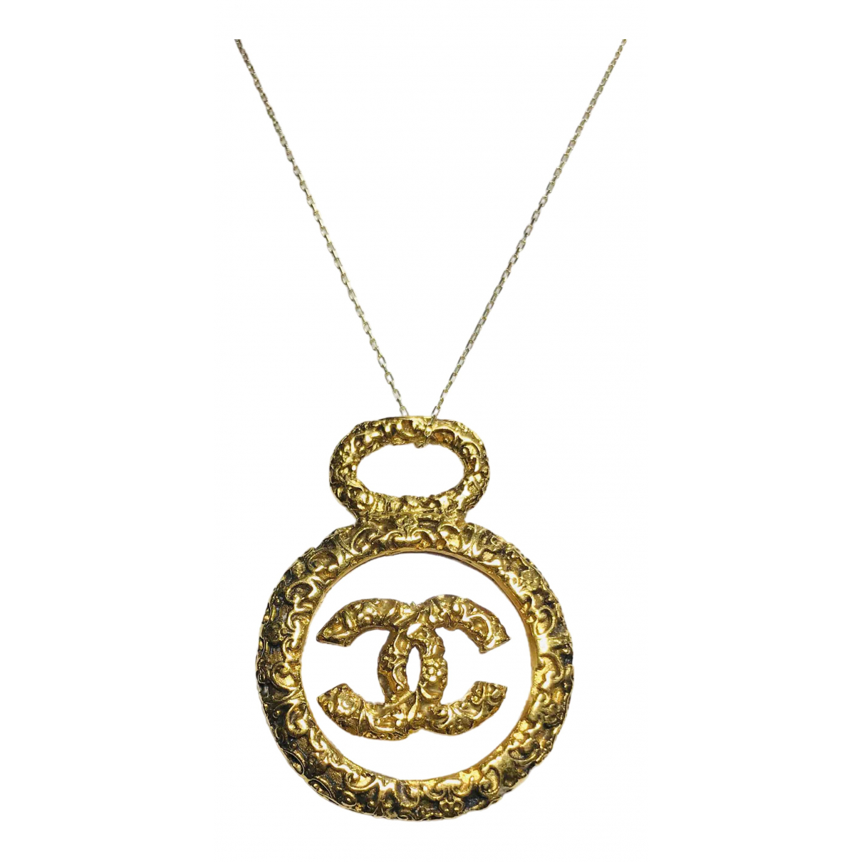 Chanel CC Anhaenger in  Gold Vergoldet