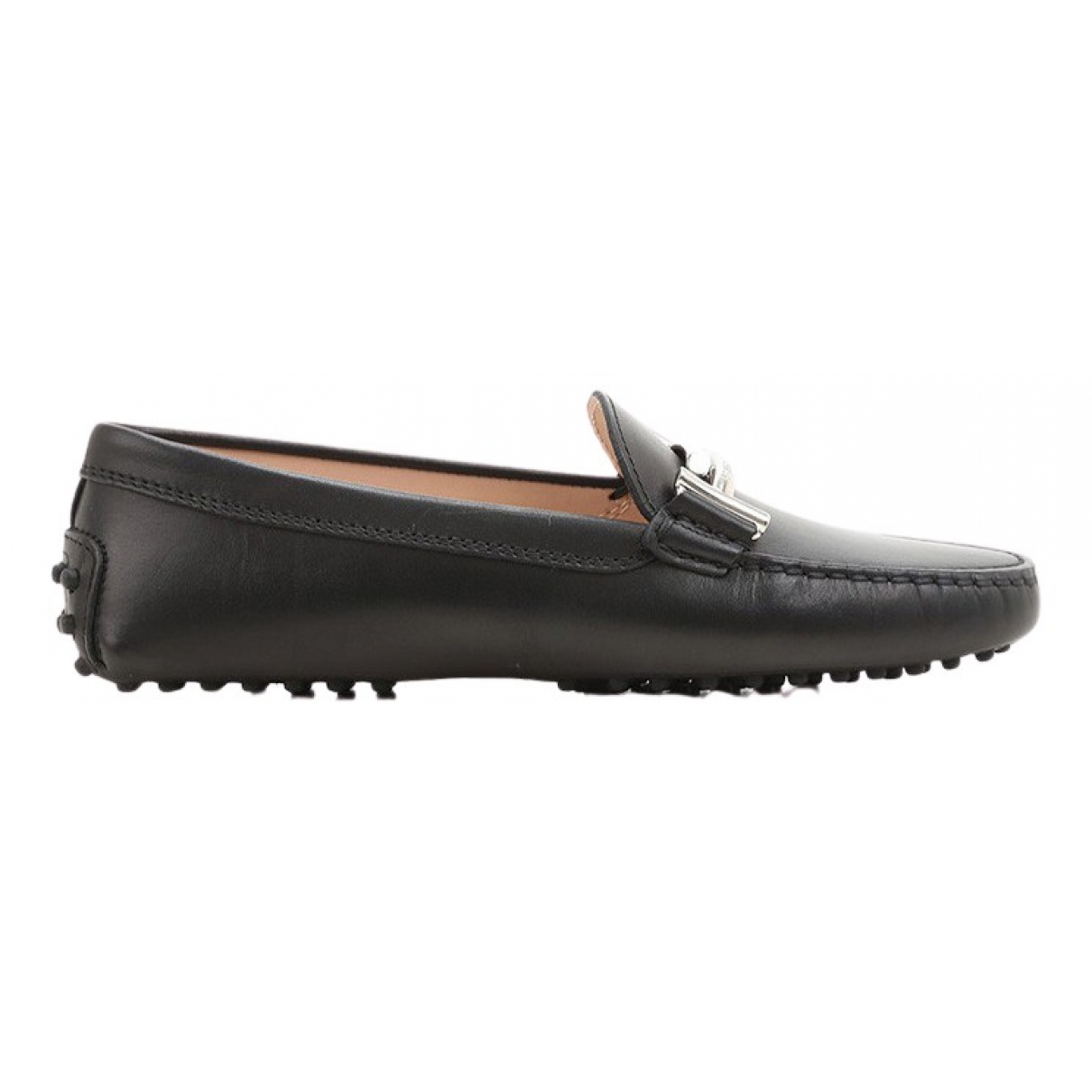 Tod's N Black Leather Flats for Women 38 EU