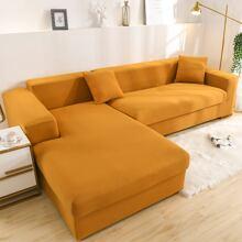 Einfarbige dehnbare Sofabezug ohne Kissen