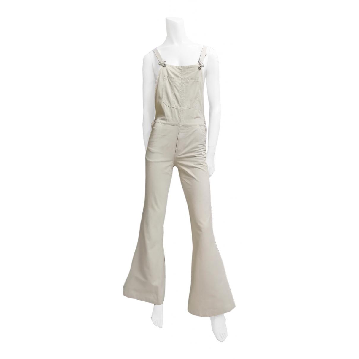 Non Signé / Unsigned N Beige Cotton jumpsuit for Women S International