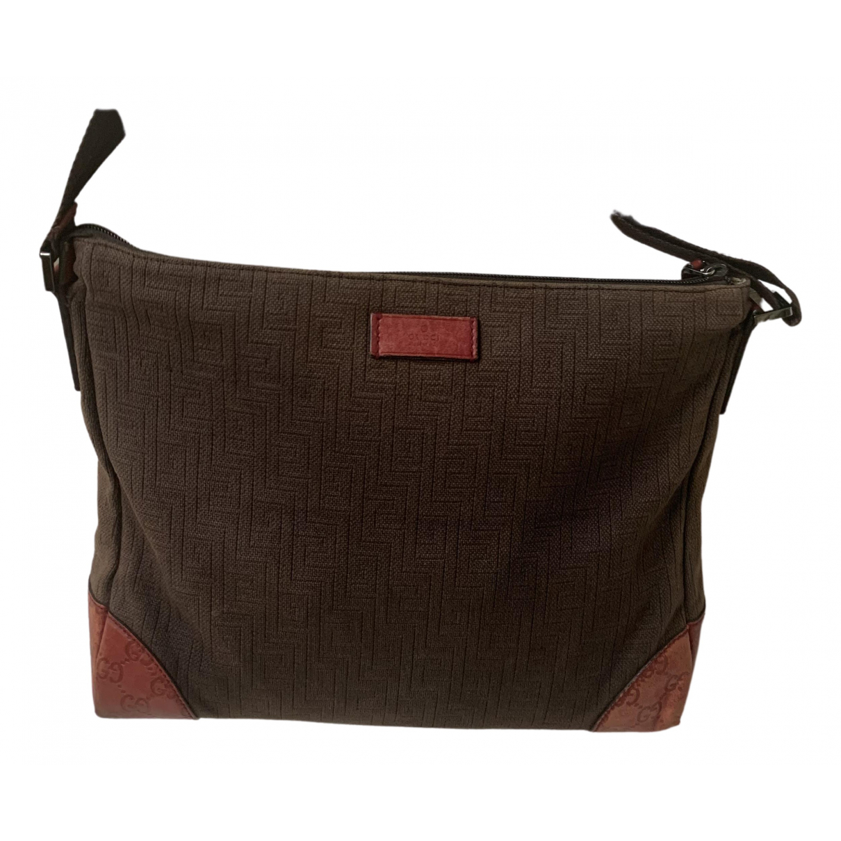 Gucci \N Handtasche in  Orange Leinen