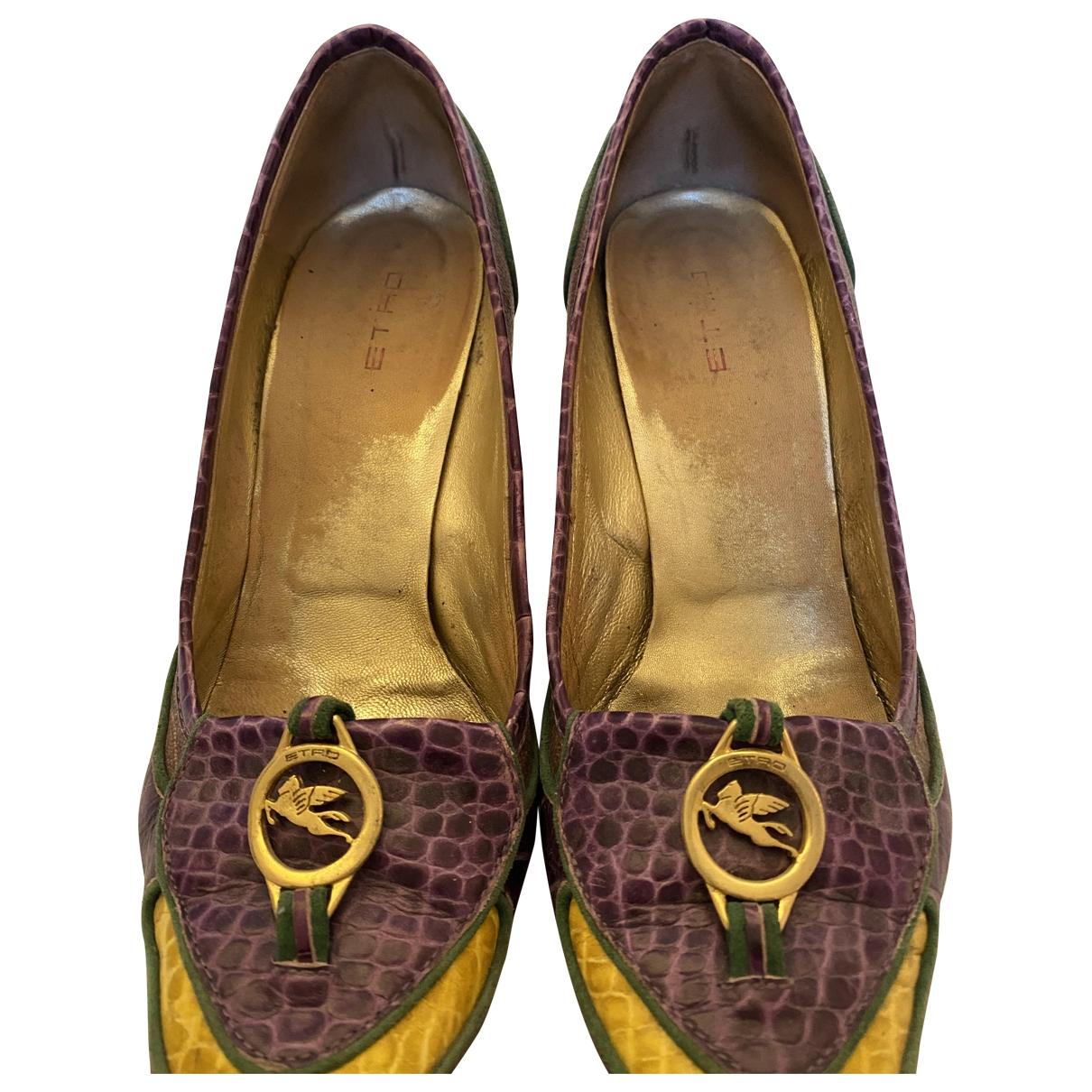 Etro - Escarpins   pour femme en cuir - violet