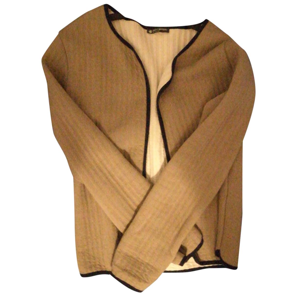 Petit Bateau - Veste   pour femme en coton - beige