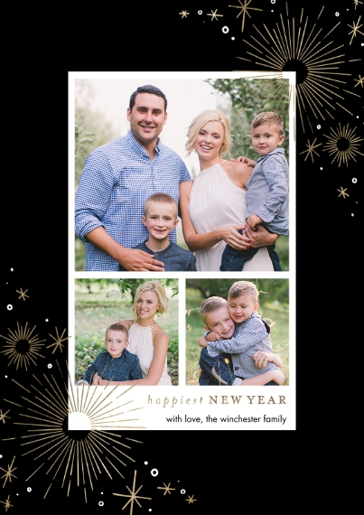 New Year's Photo Cards 5x7 Cards, Standard Cardstock 85lb, Card & Stationery -2021 New Year Sparkling by Tumbalina