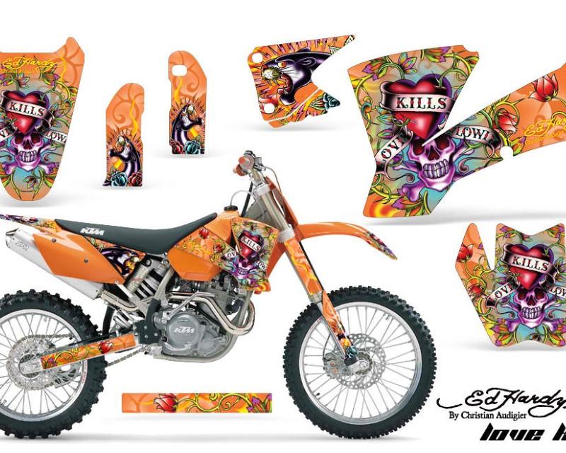 AMR Racing Dirt Bike Graphics Kit Decal Wrap For KTM  SX SXS EXC MXC 2001-2004áEDHLK ORANGE