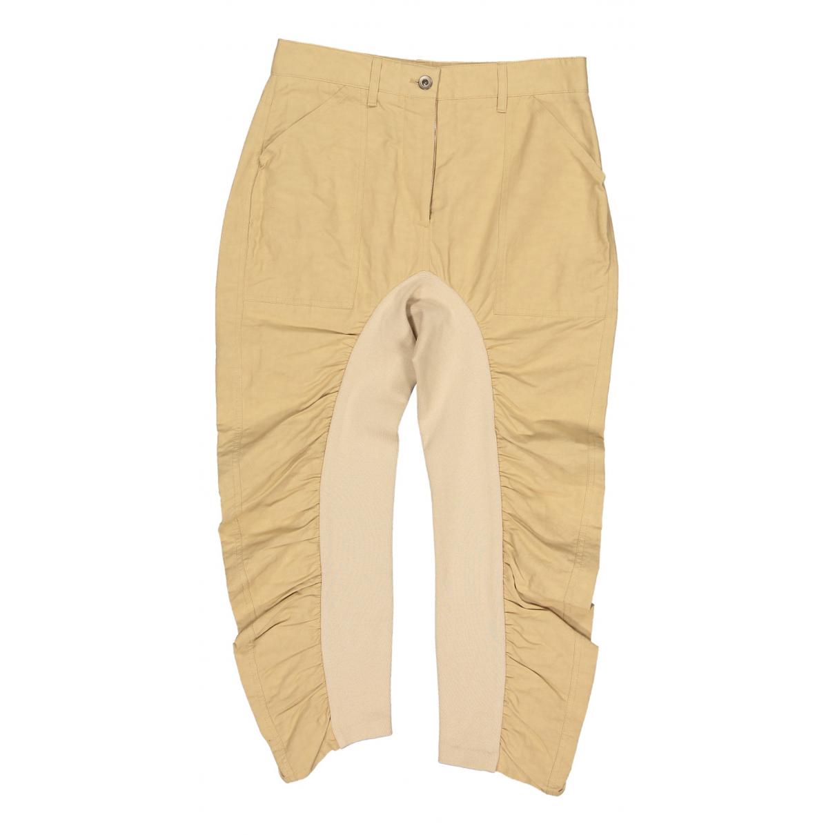 Stella Mccartney N Beige Cotton Trousers for Women 38 IT