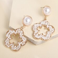 Bead Flower Earrings