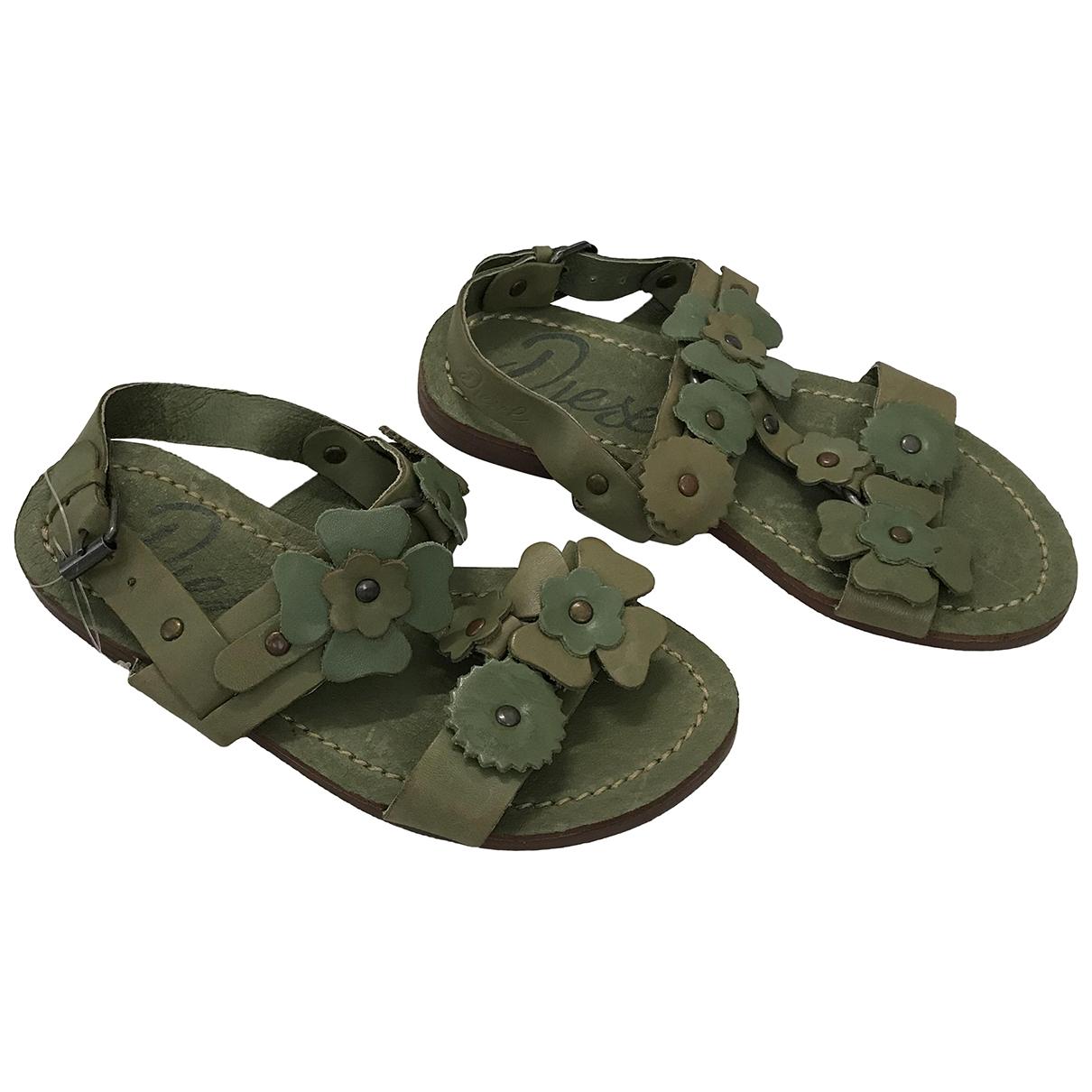 Diesel - Sandales   pour enfant en cuir - vert