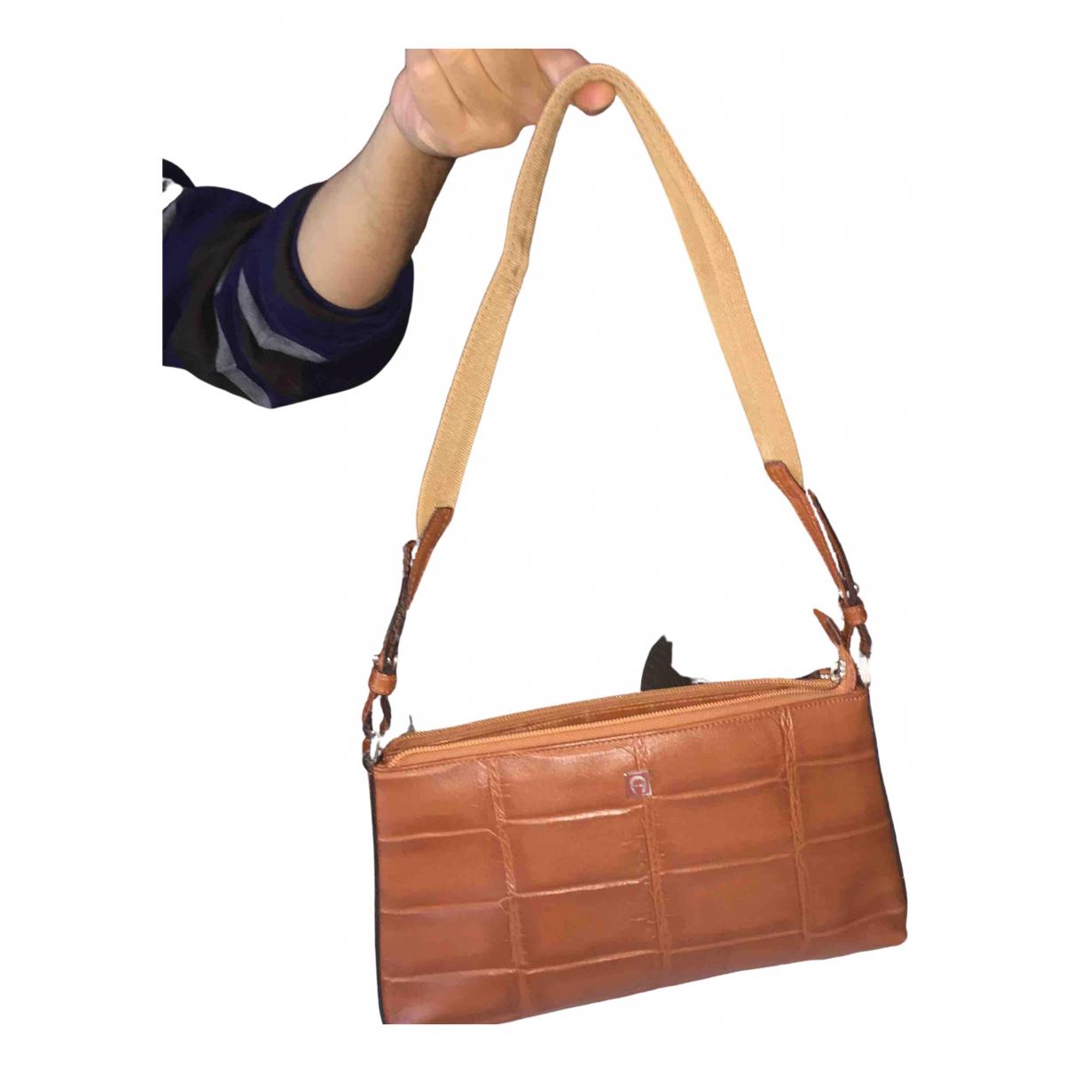 Aigner - Sac a main   pour femme en cuir - marron