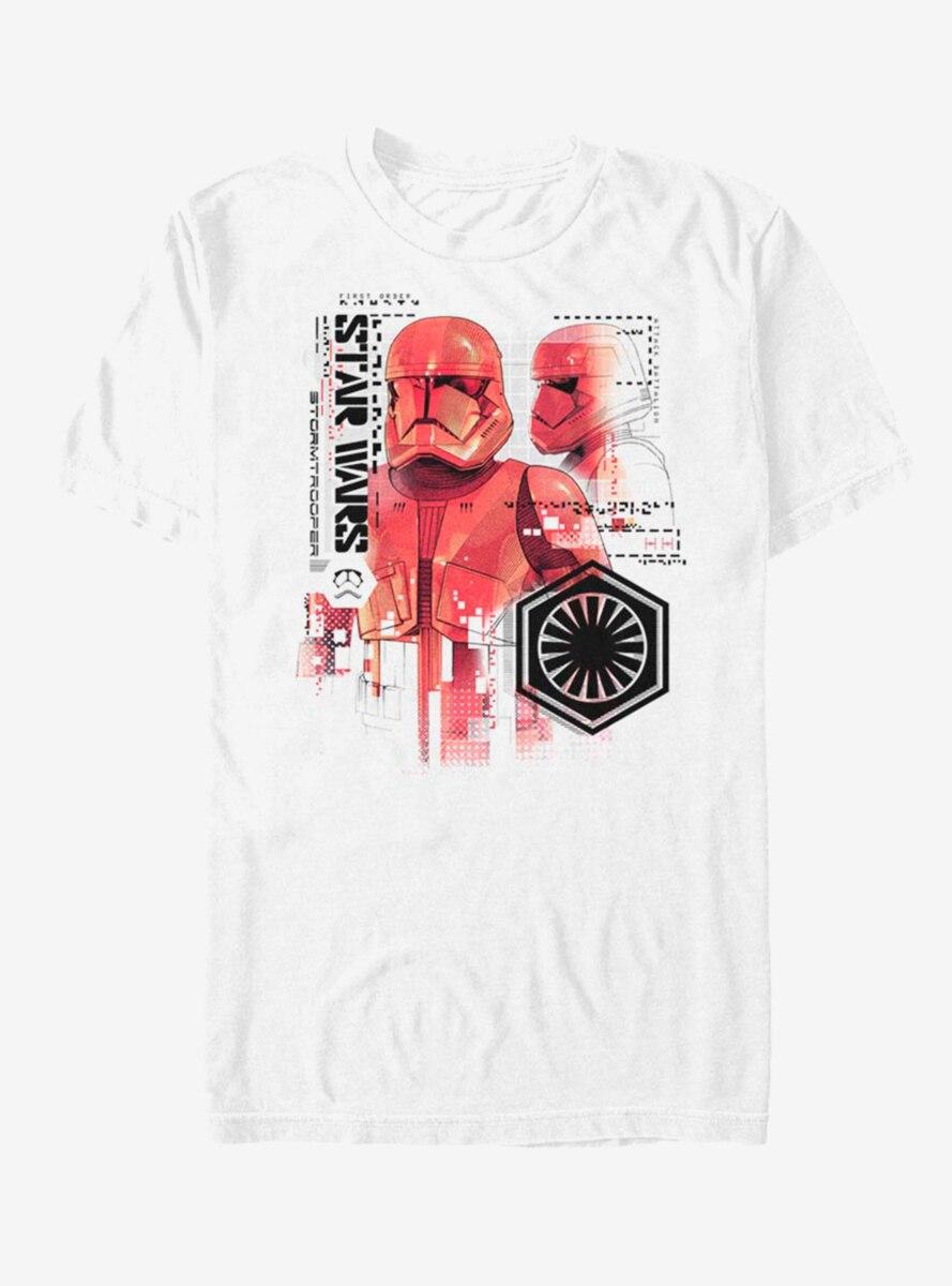 Star Wars Episode IX The Rise Of Skywalker Red Trooper Schematic T-Shirt