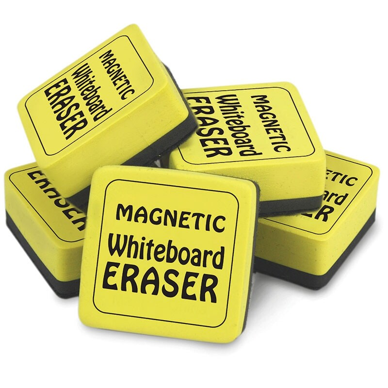 (2 Dz) Magnetic Whiteboard Erasers 12 Per Pk 2X2In