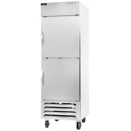 HBR27-1-HS 30 Horizon Series One Section Solid Half Door Reach-In Refrigerator  27 cu.ft. Capacity  Stainless Steel Exterior and Interior  with