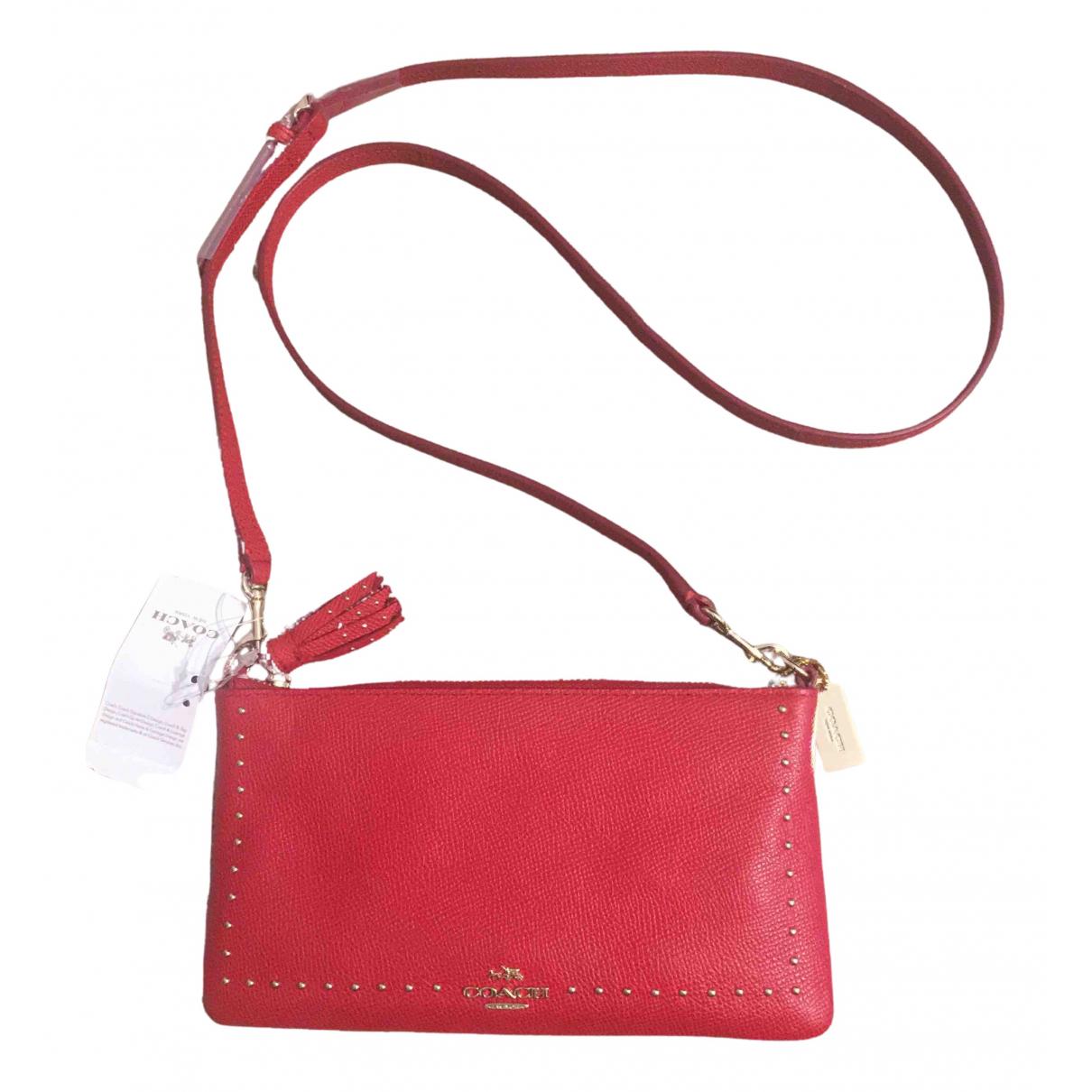 Coach N Red Leather handbag for Women N