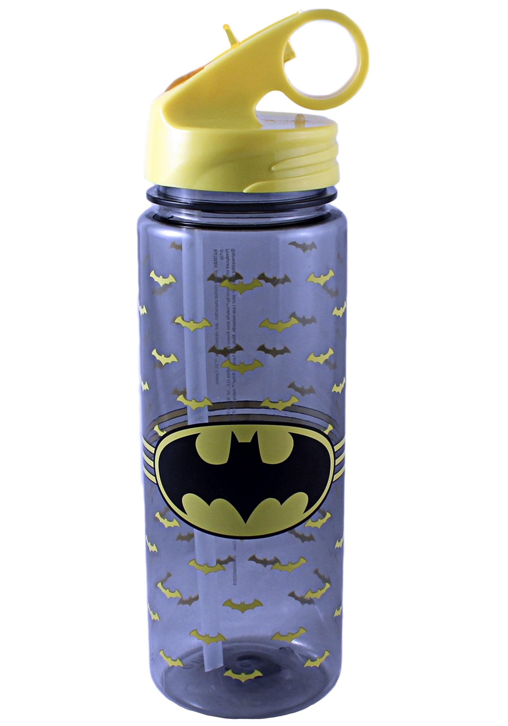 20oz Batman All Over Logo Tritan Water Bottle